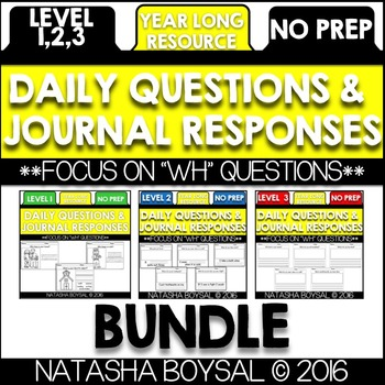 Daily Journal BUNDLE (Writing for the Entire Year)