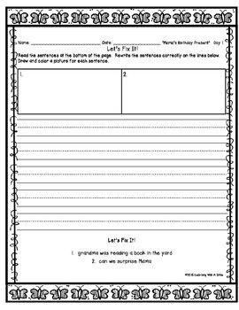 Reading Street FIRST GRADE Unit 4 Daily FIX-ITS Journal: LET'S FIX IT!