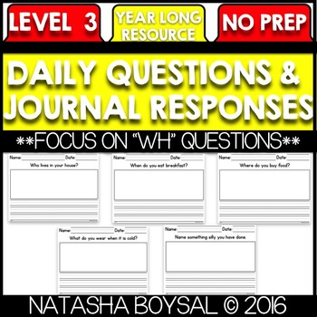 Daily Journal Level 3 (Writing for the Entire Year)