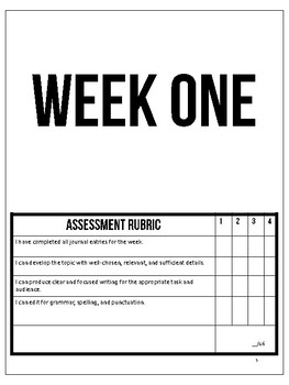 Daily Journal Prompts Printable - 25 Weeks of Bell Ringer Journals