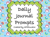 Daily Journal Prompts For the Entire School Year!!
