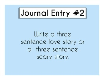 Daily Journal Prompts Set #2 (1 quarter, 9 weeks, 45 days worth of Prompts)