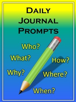 Daily Journal Prompts Packet