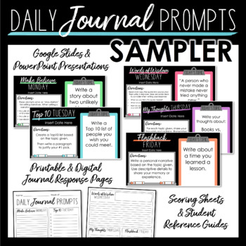 Daily Journal Prompts SAMPLER