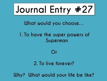 Daily Journal Prompts Set 1 & 2 Combined (1 semester, 19 weeks, 90 days)