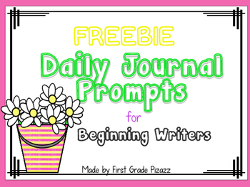 Daily Journal Prompts for Beginning Writers-May FREEBIE