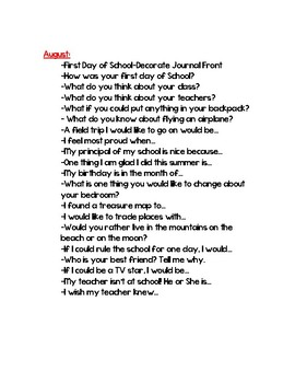 Daily Journal Prompts for Wonders McGraw Hill Reading for 2nd Grade