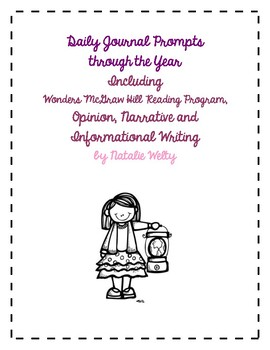 Daily Journal Prompts for Wonders McGraw Hill Reading for