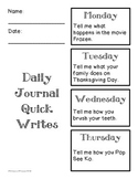 Daily Journal Quick Writes - Narrative 2