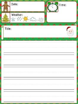 Daily Journal Template - Christmas Theme