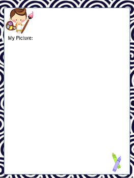 Daily Journal Template - Kids Art