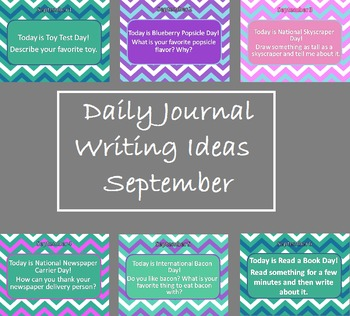 Editable Daily Journal Writing Prompts - September