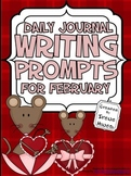 February: Daily Journal Writing Prompts ~ Winter & Valentine's Day