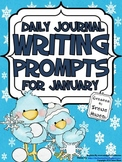 January: Daily Journal Writing Prompts ~ Winter