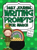 March: Daily Journal Writing Prompts ~ St. Patrick's Day & Spring