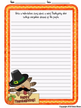 November: Daily Journal Writing Prompts ~ Autumn & Thanksgiving