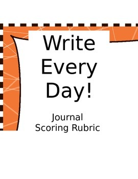Daily Journal Writing Rubric