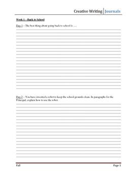 Daily Journal Writing Topics