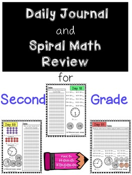 Daily Journal and Spiral Math Review for Second Grade