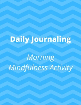 Daily Journaling Mindfulness Activity