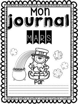 Daily Journaling Prompts-March/Journal-Mars (écriture quotidienne)