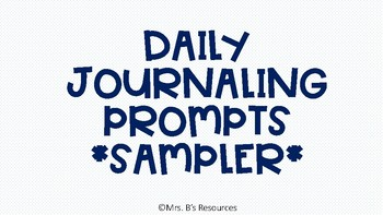 Daily Journaling Prompts Sampler