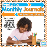 Daily Journals by the Month:Print, Cut, Go Bundle