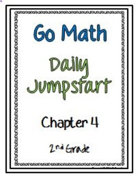 Daily Jumpstart Go Math Daily Morning Work Booklet Chapter 4