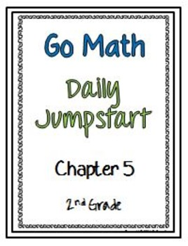 Daily Jumpstart Go Math Daily Morning Work Booklet Chapter 5