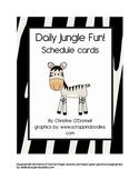 Daily Jungle Fun! Schedule Cards