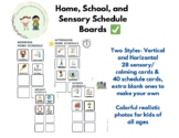 Daily Kids Home and School Schedule Boards- two syles with