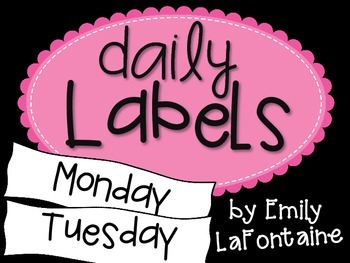 Pink Days of the Week Labels