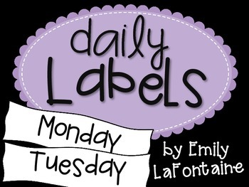 Purple Days of the Week Labels