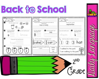 Daily Language 1 (Back to School) Second Grade