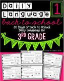 Daily Language 1 (Back to School) Third Grade