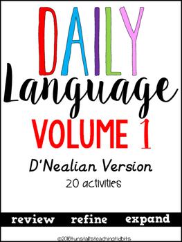 Daily Language 1 D'Nealian