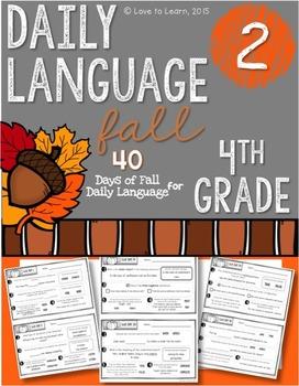 Daily Language 2 (Fall) Fourth Grade