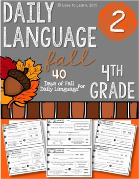 Daily Language 2 (Fall) Fourth Grade