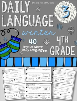 Daily Language 3 (Winter) Fourth Grade