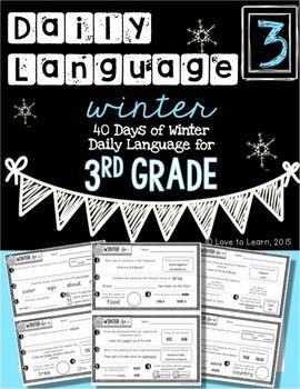 Daily Language 3 (Winter) Third Grade