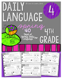 Daily Language 4 (Spring) Fourth Grade