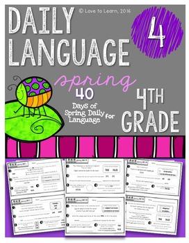 Daily Language 4 (Spring) Fourth Grade