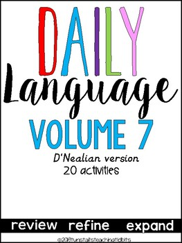 Daily Language 7 D'Nealian