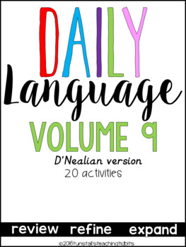 Daily Language 9 D'Nealian