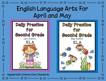 Language Arts Daily Practice for Second Grade (April and May)