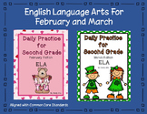 Language Arts Daily Practice for Second Grade (February and March)