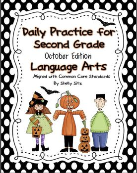 Language Arts Daily Practice for Second Grade (October & N