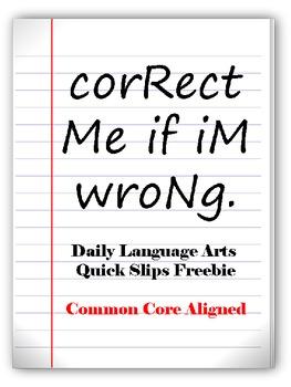 Daily Language Arts Quick Slips