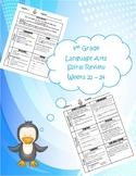 4th Grade Daily Language Arts Spiral Review (Weeks 21-24)