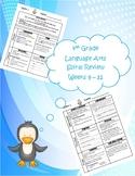 4th Grade Daily Language Arts Spiral Review (Weeks 9-12)